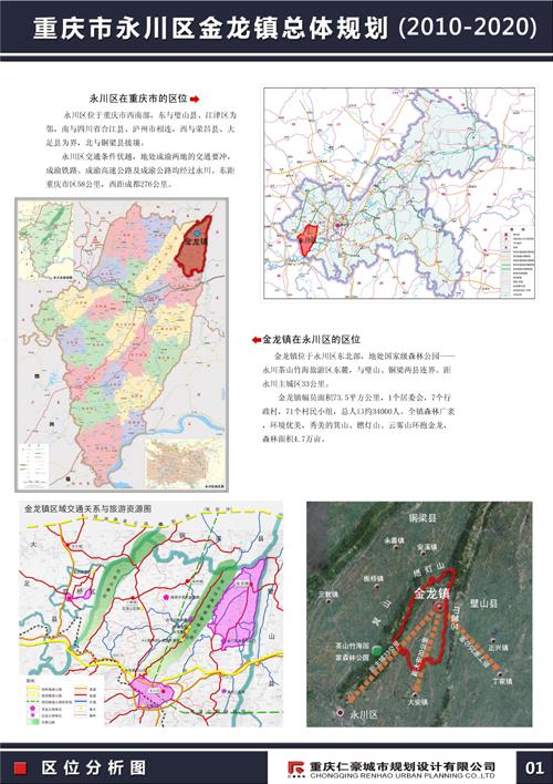 重庆市永川区金龙镇总体规划