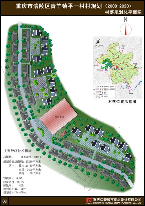 重庆市涪陵区青羊镇平一村村规划(2008~2020)